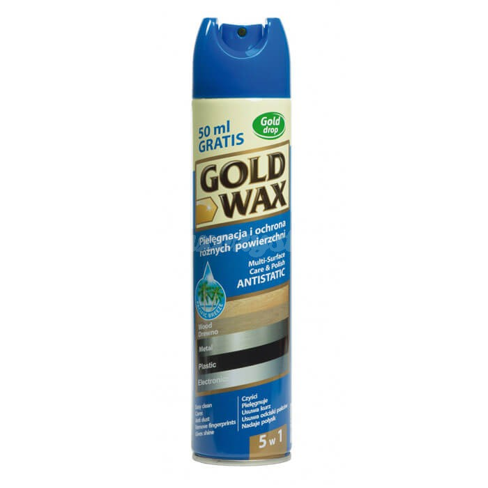 Gold Drop Gold Wax Spray do pielęgnacji mebli 300ml