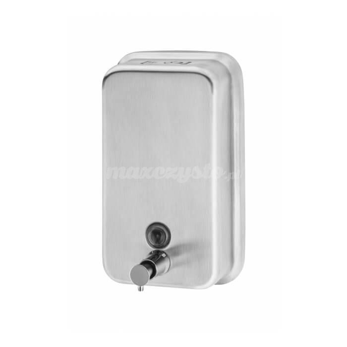 Impeco Dozownik na mydło w płynie pionowy, stalowy, 1 litr DISH5V
