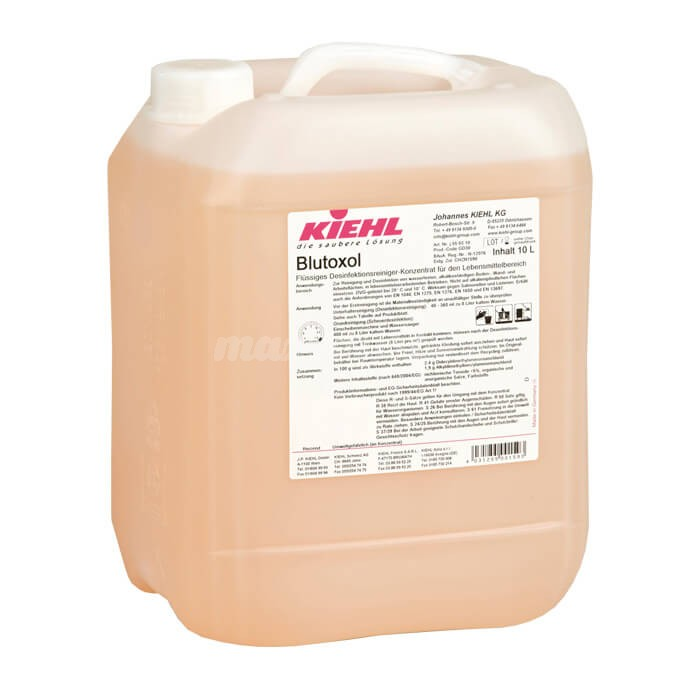 Kiehl Blutoxol 5L Płynny koncentrat myjąco-dezynfekcyjny dla obszaru spożywczego