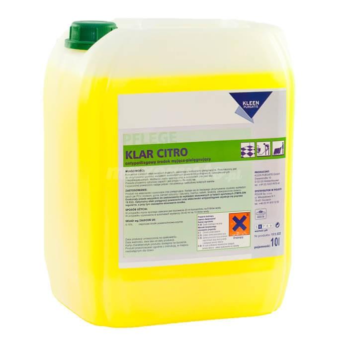 Kleen Klar Citro 10L antypoślizgowy środek myjąco-pielęgnujący