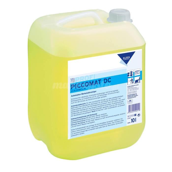 Kleen Piccomat DC 10L Intensywny i bardzo skuteczny, alkaliczny środek do czyszczenia o właściwościach rozpuszczających.