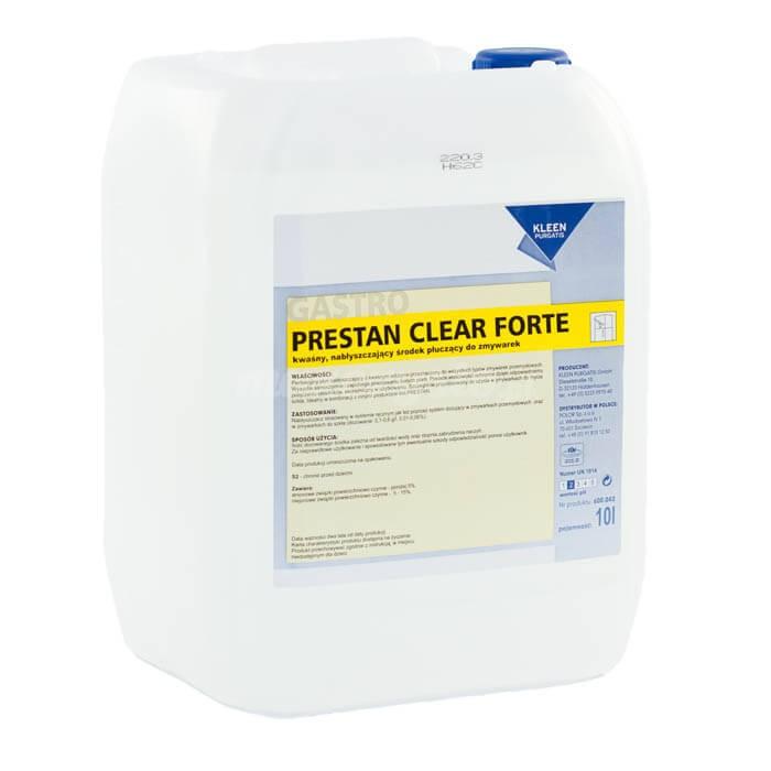 Kleen Prestan Clear Forte 10L kwaśny, nabłyszczający środek płuczący do zmywarek