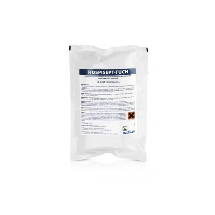 Medilab Hospisept Tuch Wkład Uzupełniający Chusteczki nasączone alkoholem do szybkiej dezynfekcji