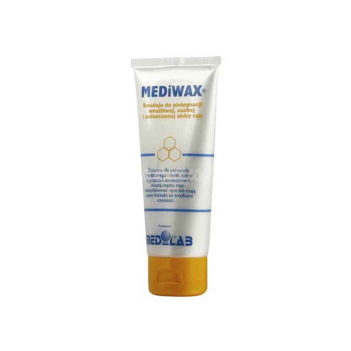 Medilab Mediwax 75ml do pielęgnacji wrażliwej, suchej oraz podrażnień skóry rąk i ciała.