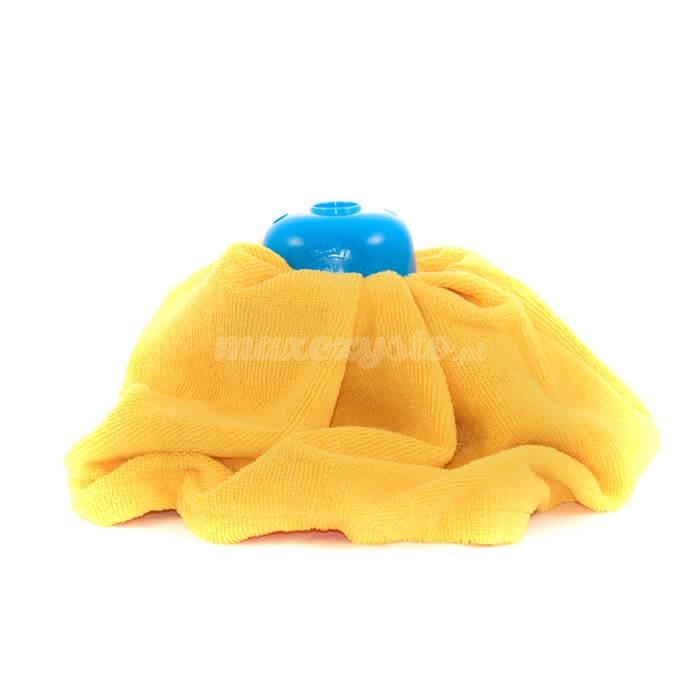 Mop Żółty mikrofibra Gosia (sukienka) najlepszy do drewna paneli i parkietu
