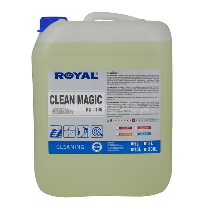 Royal RO-135M CLEAN MAGIC 5L Preparat do codziennej pielęgnacji pomieszczeń sanitarnych i podłóg