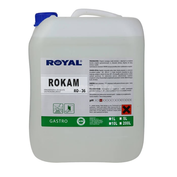 Royal RO-36 ROKAM 5L Preparat usuwający osady kamienia z urządzeń gastronomicznych