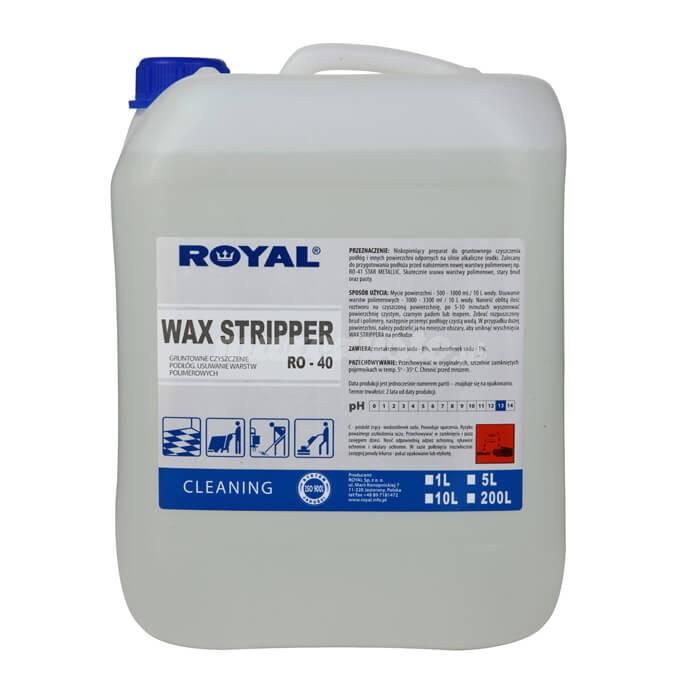 Royal RO-40 WAX STRIPPER 5L Niskopieniący preparat do gruntownego czyszczenia podłóg