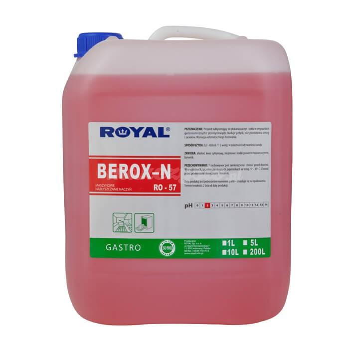 Royal RO-57 BEROX-N 10L Preparat nabłyszczający do płukania naczyń i szkła