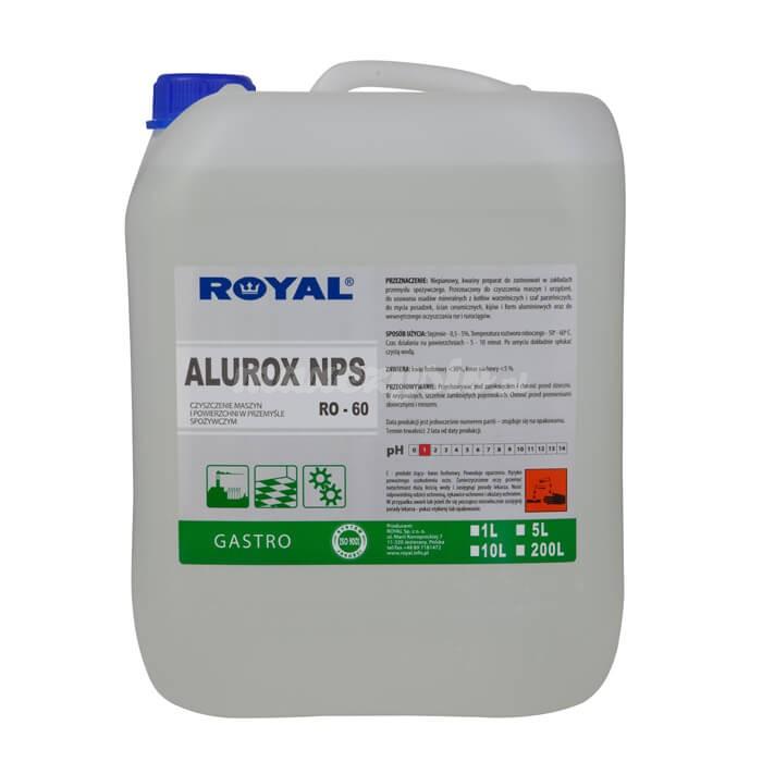 Royal RO-60 ALUROX NPS 5L Niepianowy, kwaśny preparat do stosowania w zakładach przemysłu spożywczego