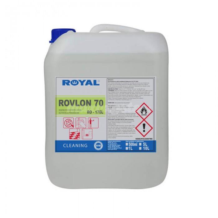Royal Rovlon 70 5L Płyn do higienicznej dezynfekcji rąk i powierzchni