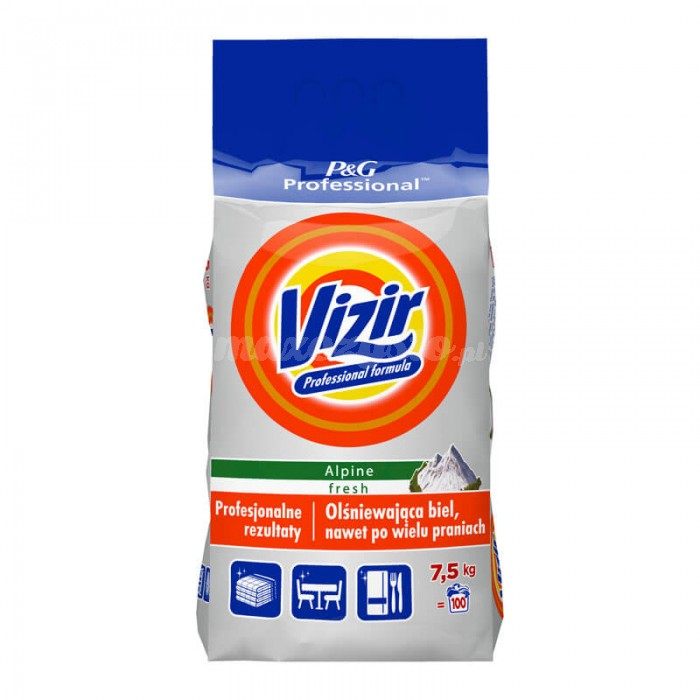 Profesjonalny proszek do prania Vizir Expert Biel 7,5 kg 100 prań