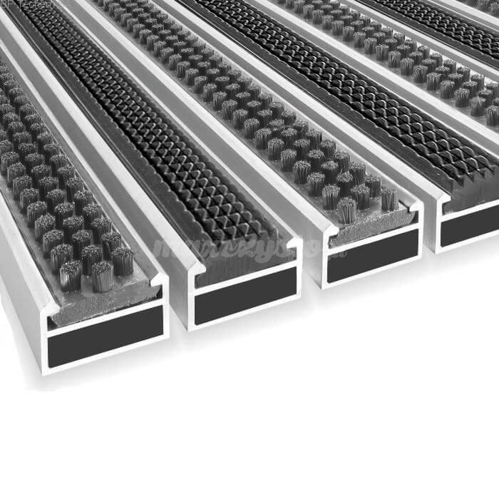 Wycieraczka Aluminiowa Clean rubber - scrub 80 x 100 cm