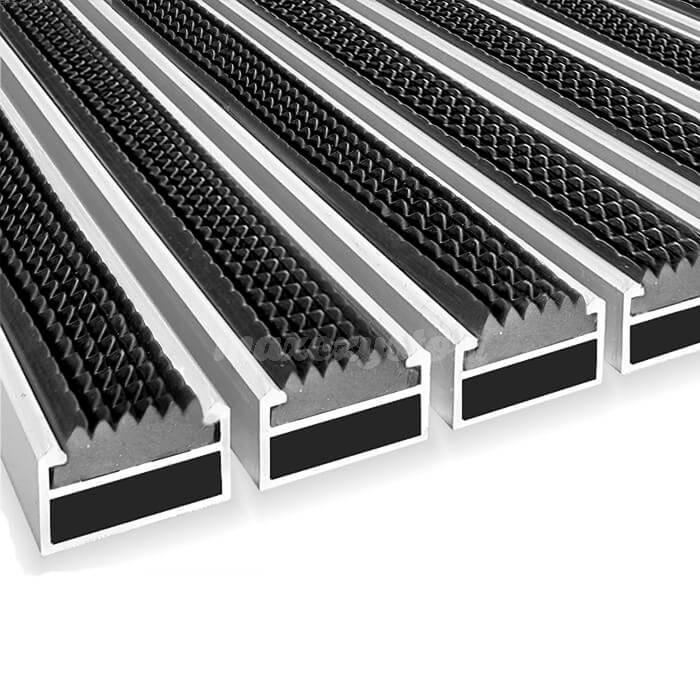 Wycieraczka Aluminiowa Clean rubber 80 x 100 cm (17mm)