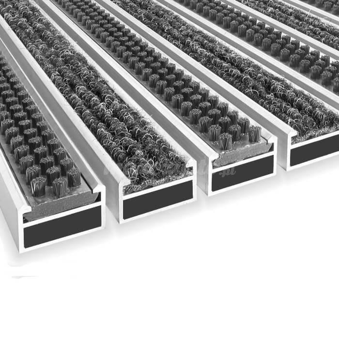 Wycieraczka Aluminiowa Clean ryps - scrub 50 x 80 cm