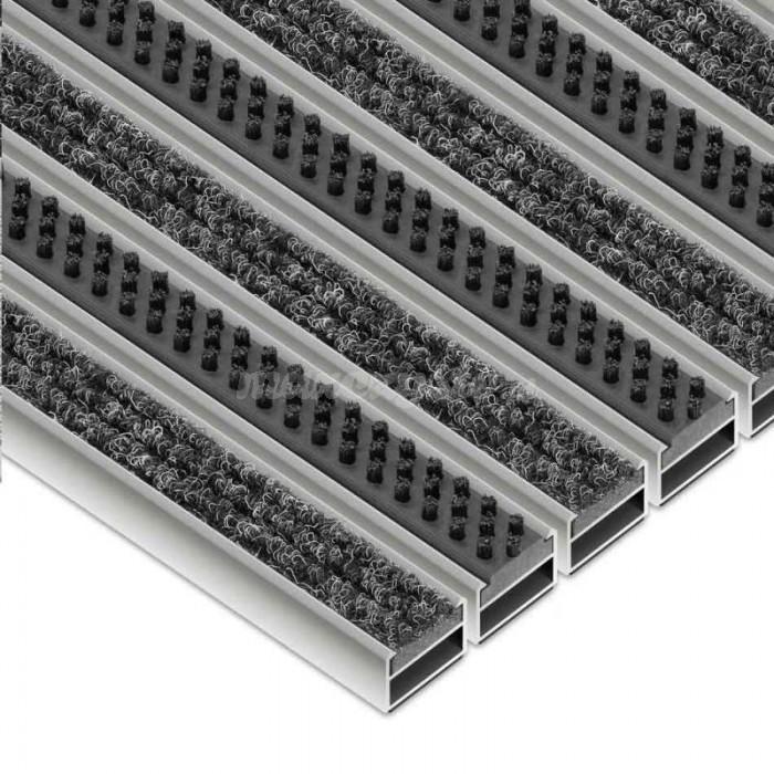 Wycieraczka Aluminiowa Clean Ryps - Scrub (Wkład Tekstylno-Szczotkowy)