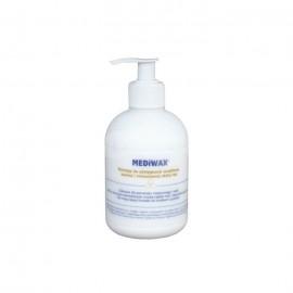 Medilab Mediwax 330ml z pompką do pielęgnacji wrażliwej, suchej oraz podrażnień skóry rąk i ciała.