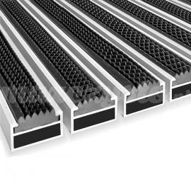 Wycieraczka Aluminiowa Clean rubber 40 x 60 cm