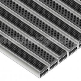 Wycieraczka Aluminiowa  Clean Rubber-Scrub (Wkład Gumowo-Szczotkowy)