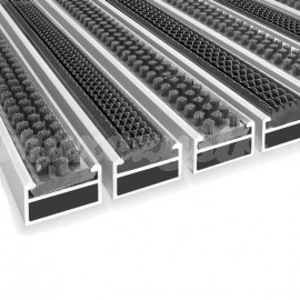 Wycieraczka Aluminiowa Clean rubber - scrub 80 x 100 cm (17mm)