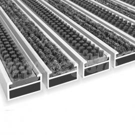 Wycieraczka Aluminiowa Clean ryps - scrub 80 x 100 cm wysokość (17mm)