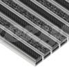 Wycieraczka Aluminiowa Clean Ryps - Rubber (Wkład Tekstylno-Gumowy)
