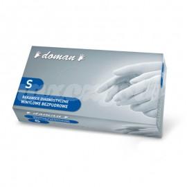 Rękawice Diagnostyczne Winylowe Bezpudrowe DOMAN