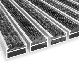 Wycieraczka Aluminiowa Clean ryps - rubber 40 x 60 cm (17mm)